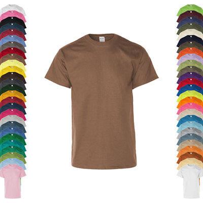 Erwachsene Ultra Cotton T-shirt (Gildan Herren T-Shirt ULTRA COTTON Kurzarm Rundhals Einfarbig Neu 2G2000)