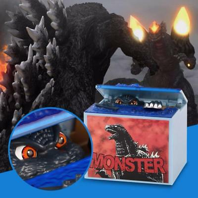 Godzilla Movie Money Box Monster Electronic Music  Coins Piggy Bank Kids  Toys