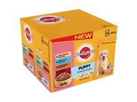 BNIB Pedigree Puppy Wet Dog Food Pouches 48 pk (in 2 x 24 pks) SPECIAL OFFER PRICE