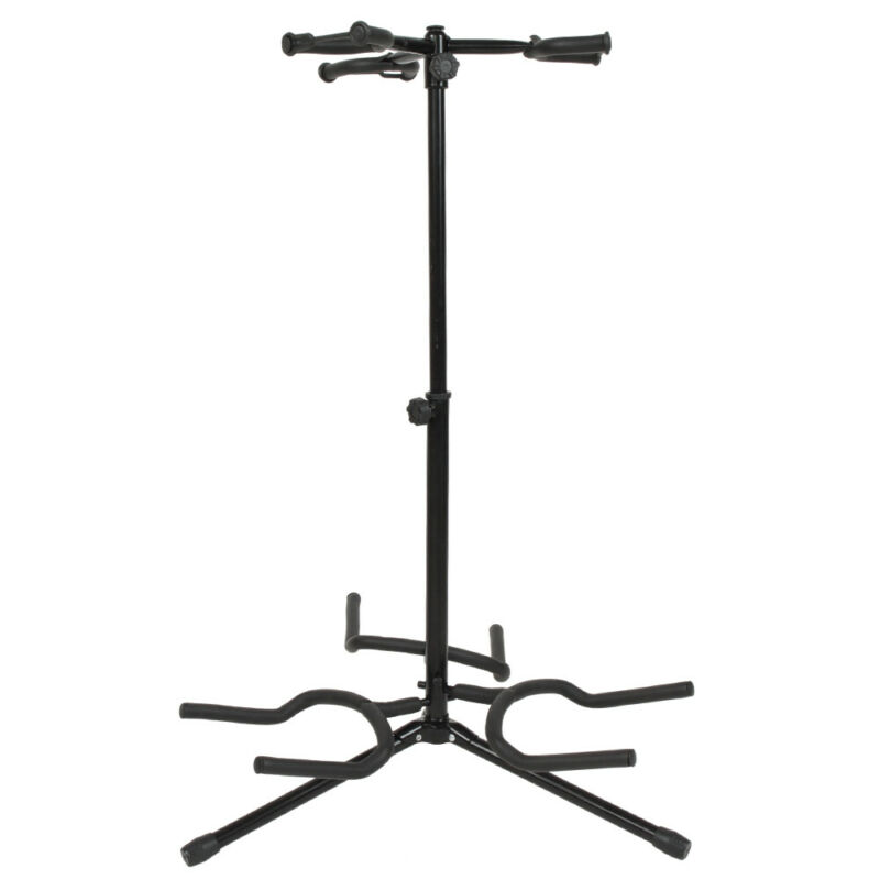 Guitar Vertical Style Alloy Guitar Stand Holder Black