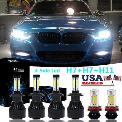4Side H7 H7 LED Headlight Bulb Kit Hi Low Beam H11 Fog Lights For BMW X1 X3 320i
