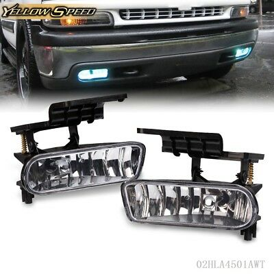For 1999-2002 Chevy Silverado 00-06 Tahoe Suburban  Fog Lights Bumper Lamps