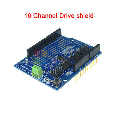 16ch 16 Channel 12-bit Pwm Servo Drive Shield Board -i2c Pca9685 For Arduino