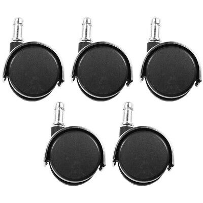 5pcs Office Chair Caster Wheel Swivel Wood Floor Home Furniture Replacement Us