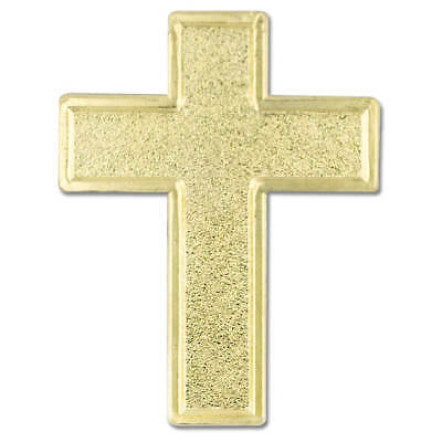 PinMart's Traditional Gold Cross Religious Lapel - Cross Pins