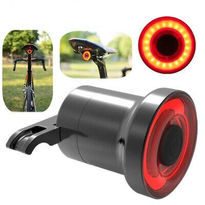 LED Impermeable Bicicleta Inteligente Luces Sentido Luz De Freno Cola Carga USB