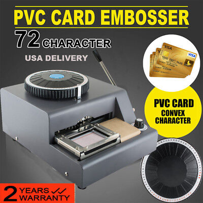 Us 72 Character Letters Manual Embosser Credit Id Pvc Card Vip Embossing Machine
