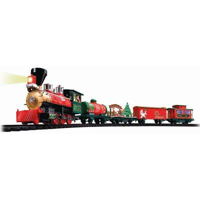 North Pole Express Christmas Train Set Wireless Remote Battery Operated w/ -