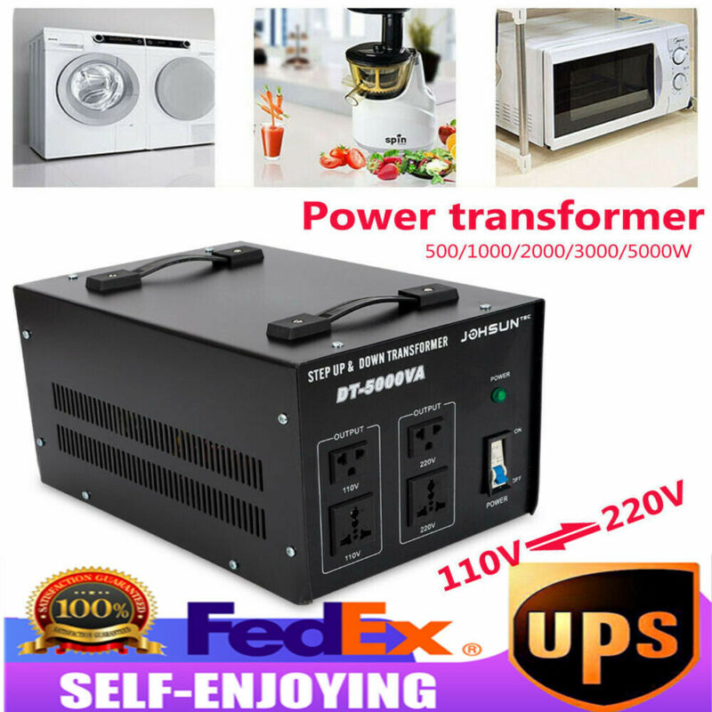 5000watt Voltage Converter Transformer High Power Step Up/Down 110V to/from 220V