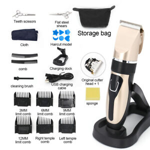 19pc Professional  Hair Clippers Electric Trimmers Cutting Cordless Beard Shaver