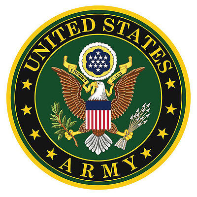 US Army Military Decal Sticker Car Truck Window Laptop Wall ()