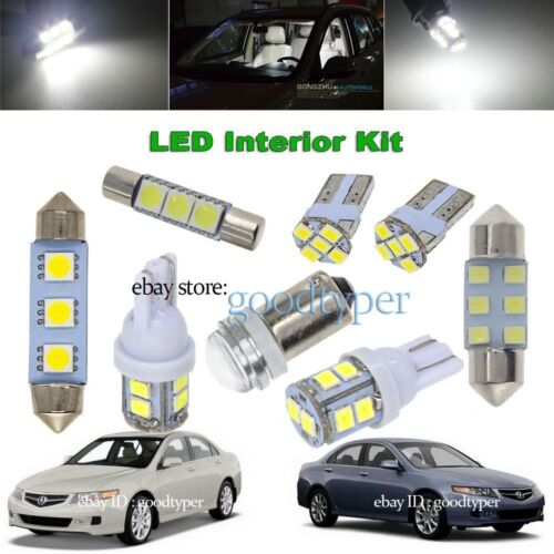 10x White LED Map Dome Light Interior Bulb Package Kit Fit