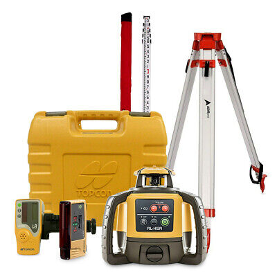 Topcon Rl-h5a Construction Rotary Laser Level With Ls-b10 Ls-80l Receiver