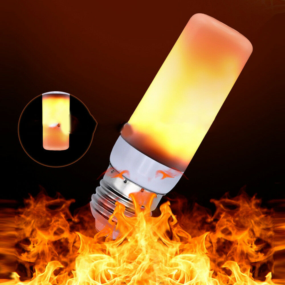 3W LED Feuer Flammen E27 Leuchtmittel 3 Watt Flacker Effekt Fackel Lampe 1600K