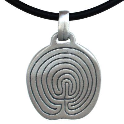 Chakravyuha Riddle Meis Galicia Classical Labyrinth Maze Puzzle Pewter Pendant