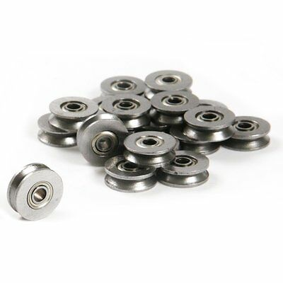 10pcs V624zz 624vv V Groove Guide Pulley Rail Ball Bearings Metal 4mm13mm6mm