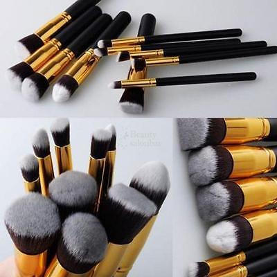 Pro Makeup 10pcs Brushes Set Powder Foundation Eyeshadow Blush Brush Tool on Rummage