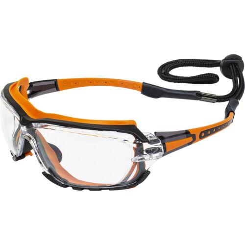 Global Vision Octane Foam Padded Safety Glasses Antifog Shatterproof Clear Lens