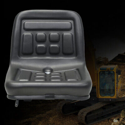 Universal Black Tractor Seat W Rails Horizontally Adjustable 150 Mm Waterproof