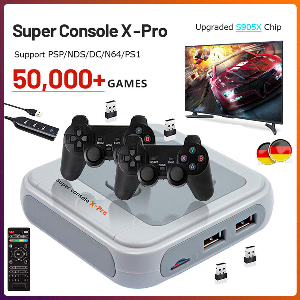 Super Console-X HD 41000+Games Videospielkonsole Retro TV Video