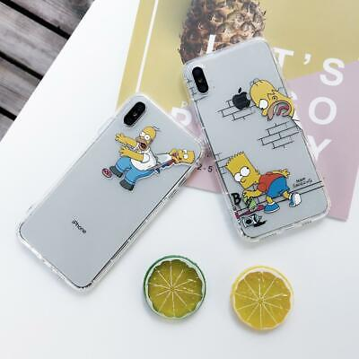Funny Cartoon Simpson soft Phone Case Cover For iphone 11 Pro Max X 6 7 8 Plus