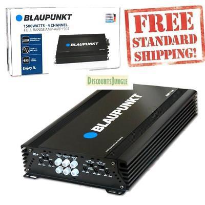 New Blaupunkt Amp1504 Car Audio 4 Channel Amp Subwoofer Amplifier 1500W Max Peak