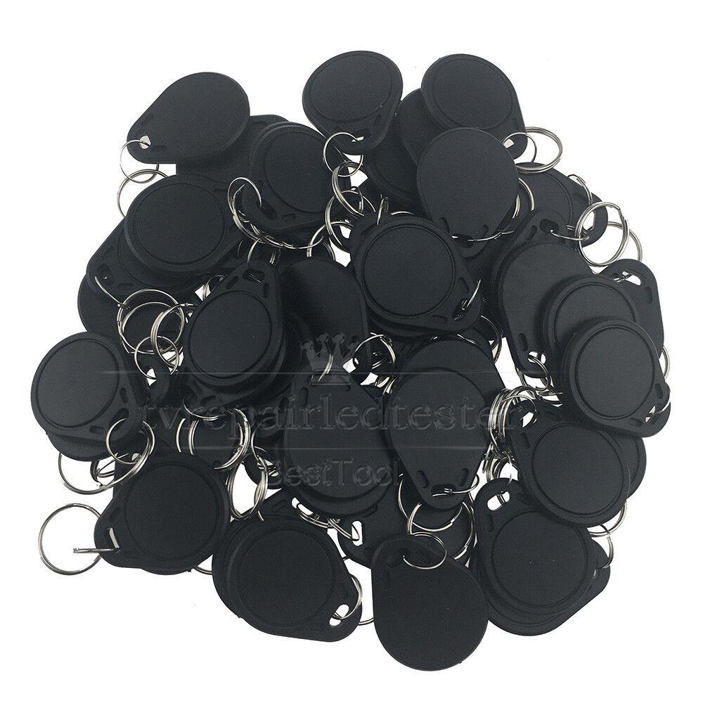 Black RFID 125KHz Writable Rewrite T5577 Keyfobs Proximity Access Tag 50pcs