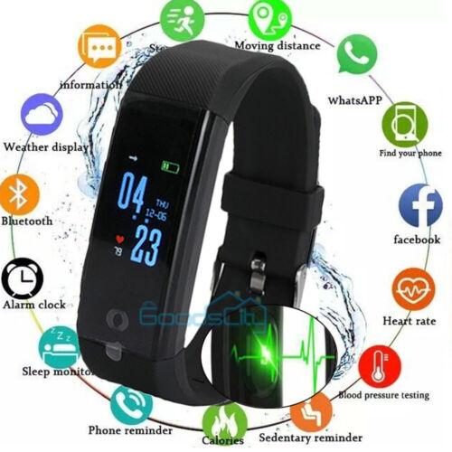 Waterproof Smart Watch Fit**bit Heart Rate Fitness Tracker B