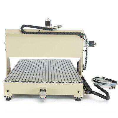 4 Axis 6090 Cnc Router Engraver Desktop Engraving Milling Machine Usbvfd 2.2kw