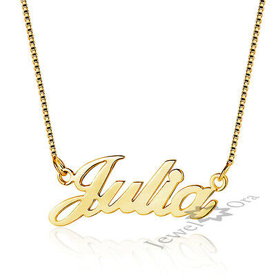 Custom Gifts 18K Gold Plated 925 Silver Any Name Necklace Engagement Gift Ideas](Necklace Ideas)