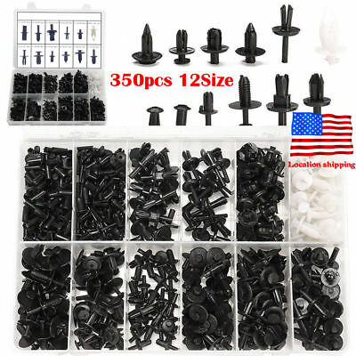 350 Pcs Car Auto Push Pin Rivet Trim Clip Bumper Door Panel Retainer Assortment