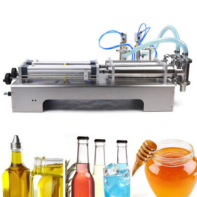 Pneumatic Liquid Flling Machine 100-1000ml Two Heads Soap Oil Perfume Filler Usa