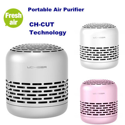 Mini Air Purifier Home Air Cleaner Portable Odor Remover HEPA Filter Sterilizing