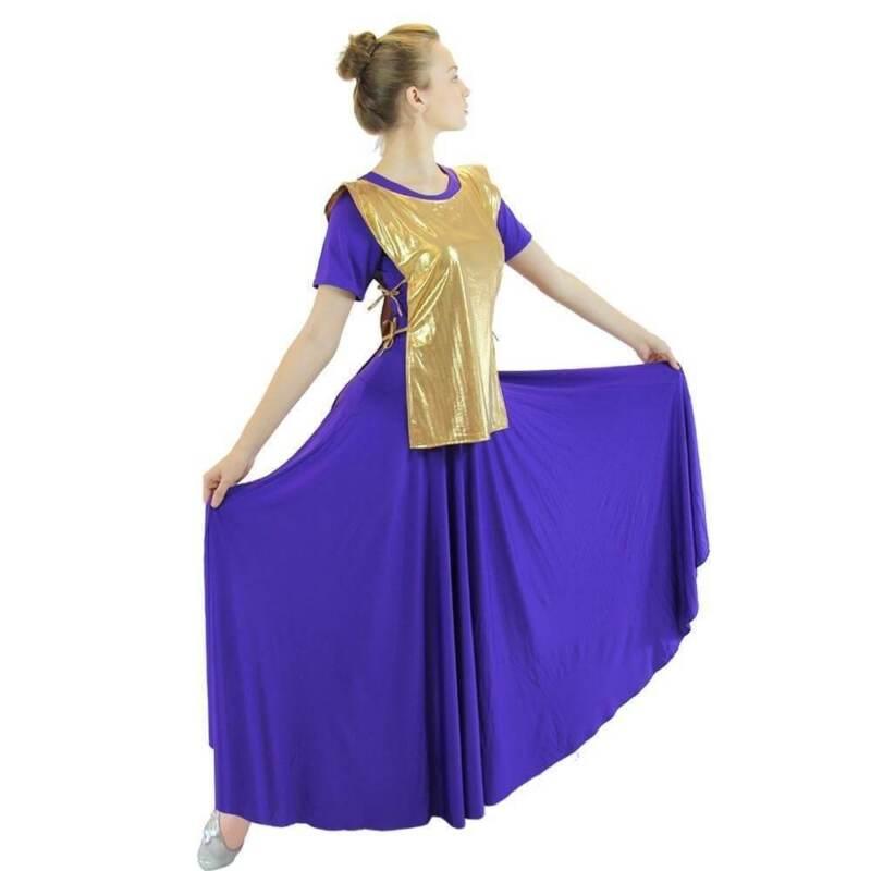 Danzcue Girls Praise Dance Polyester Ephod Dance Top
