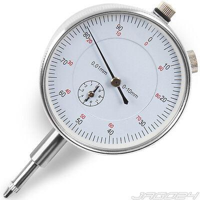 Messgerät Messuhr 0,01/0-10mm Messwerkzeug Analog für Magnethalter & Messstative