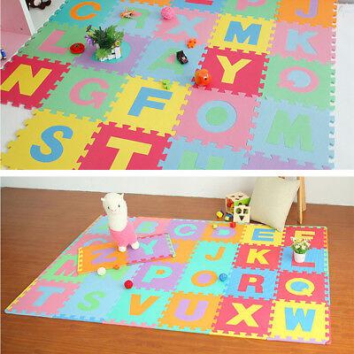 (36 Pcs Colorful Alphabet Numbers EVA Floor Play Mat Baby Room ABC Foam Puzzle)