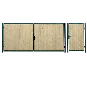 hoftor gartentor holztor doppelfl geltor einfahrtstor. Black Bedroom Furniture Sets. Home Design Ideas