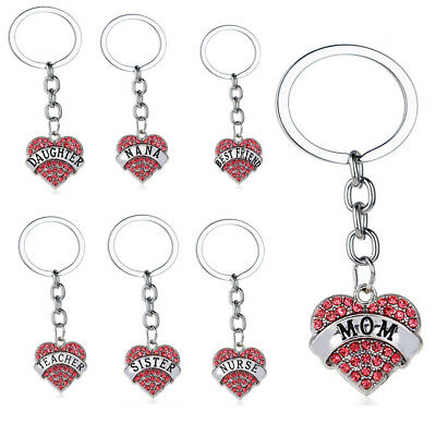 Pink Keyring Gifts For Mom Sister Best Friends Heart Women Pendants Keychain - Pink Gifts