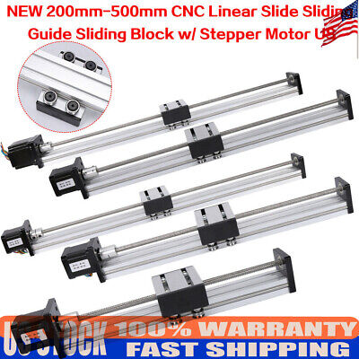 Cnc Linear Actuator Stage Lead Screw Slide Rail 200-500mm With 42 Stepper Motor