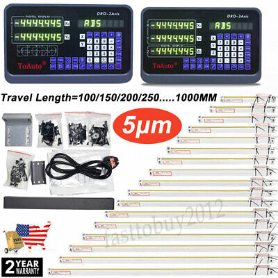 23 Axis Digital Readout Lcd Ttl 5um Linear Glass Scale Dro Display Cnc Milling
