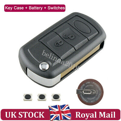 For Range Rover Land Rover Discovery Sport Remote Fob Key Case Shell +Battery 3B