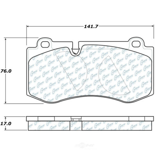 103.08190 Ceramic Centric Brake Pad