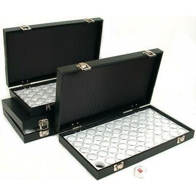 150 Gem Jars White Display Tray Gemstone Travel Case