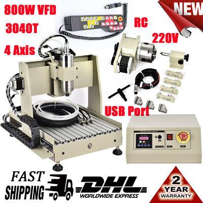 3040 Cnc Router Engraver Milling Drilling Machine 800w 3d Woodworking Usb Port