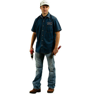 Adult Mike Mechanic Costume By Dress Up America](Mechanic Costume)