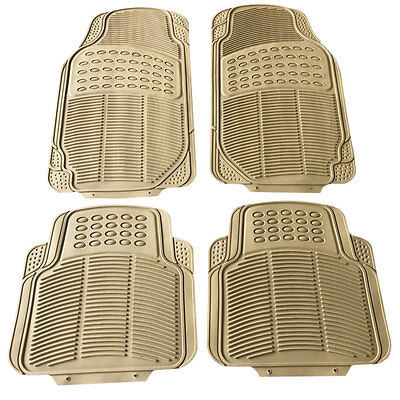 New Car Floor Mats for All Weather Semi Custom Fit Heavy Duty Trimmable Tan