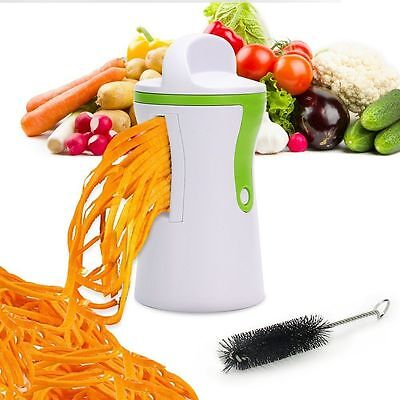 SPIRAL SLICER CUTTER CHOPPER SPIRALIZER SHRED FOR VEGETABLE FRUIT TWISTER PEELER