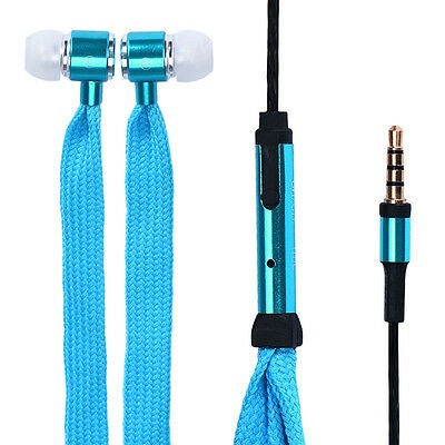 Universal 3.5mm Shoelace Stereo Handfree Headphone Earphone Headset With Mic