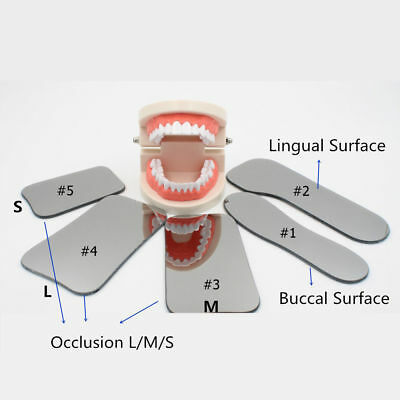 5pcs Dental Orthodontic Photo Mirror Intra Oral Mouth Mirror Glass Reflector