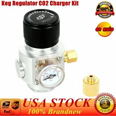 Keg Regulator Co2 Charger Kit For Soda Stream Cylinder Draft Beer Homebrew Usa